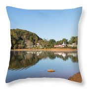 Country Lake Scene Throw Pillow