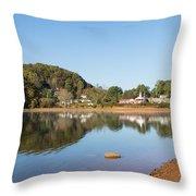 Country Lake Scene Throw Pillow