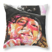Country Music Artist...willie Nelson Throw Pillow