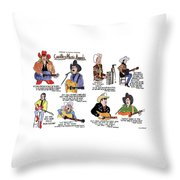 Country Music Awards Throw Pillow