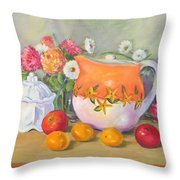 Country Pitcher With Sugar Bowl Throw Pillow