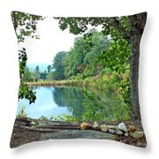Country Pond Throw Pillow