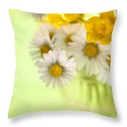 Country Posy Throw Pillow