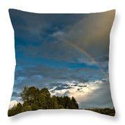 Country Rainbow Throw Pillow