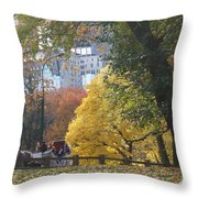 Country Ride In The City Throw Pillow