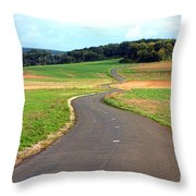 Country Road In France Throw Pillow by Olivier Le Queinec