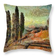 A Sunset In Tuscany Throw Pillow