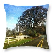 Country Road On Sauvie Island Throw Pillow
