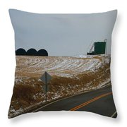 Country Roads In Holmes County Throw Pillow