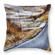 Country Roads In Ohio Throw Pillow