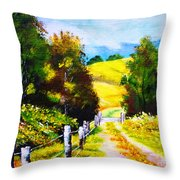 Country Side Throw Pillow