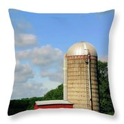 Country Silo Throw Pillow