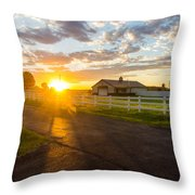 Country Skies Throw Pillow
