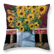 Country Still Life Throw Pillow
