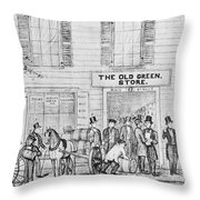 Country Store, 1847 Throw Pillow