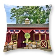 Vegetable Stand Throw Pillow