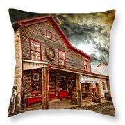 Country Store Washington Town Ky Throw Pillow
