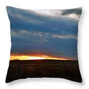 Country Sunset Throw Pillow
