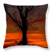 Country Sunsets Throw Pillow