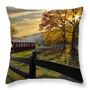 Country Times Throw Pillow by Debra and Dave Vanderlaan