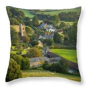 Country Village - England Throw Pillow