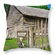 Country Weathered Barn Throw Pillow