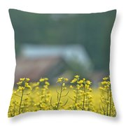 Country Yellow Throw Pillow
