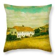 Countryside Homestead Throw Pillow