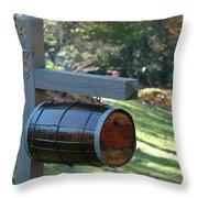 Countryside Mailbox #10 Throw Pillow