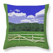 Countryside Scene Digital Painting Throw Pillow