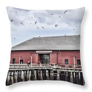 Coupeville Wharf Throw Pillow