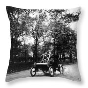 Couple Driving, C1907 Throw Pillow