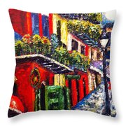 Couple In Pirate's Alley Throw Pillow