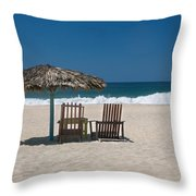 Couple In The Shade Throw Pillow