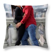 Couple Laughing Throw Pillow