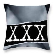 Couple Making Love And Xxx Sign Black And White Throw Pillow