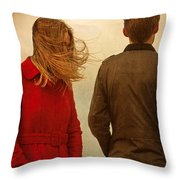 Couple With Relationship Problems Throw Pillow