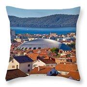 Coupola Sports Hall Landmark In Zadar Throw Pillow