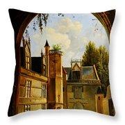 Cour Hotel De Cluny Mnma Cl23879 Throw Pillow