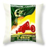 Courses Automobiles D Oran Throw Pillow