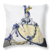 Court Dress, Fig. 106 From The Gallery Throw Pillow
