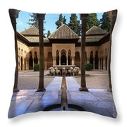 Court Of The Lions Throw Pillow
