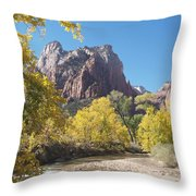 Court Of The Patriarchs Throw Pillow