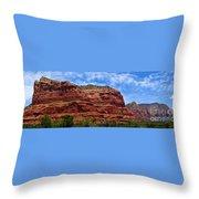 Courthouse Butte Rock Formation Sedona Arizona Throw Pillow