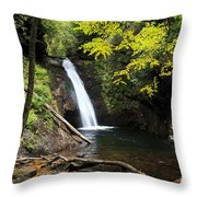 Courthouse Falls In North Carolina Throw Pillow