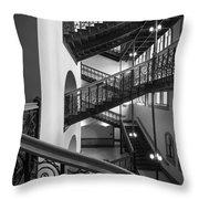 Courthouse Staircases Throw Pillow