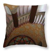 Stairway Courthouse Santa Barbara Throw Pillow