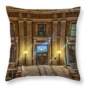 Courthouse Steps Throw Pillow