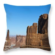 Courthouse Towers Arches National Park Utah Throw Pillow