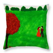 Courting Couple Throw Pillow